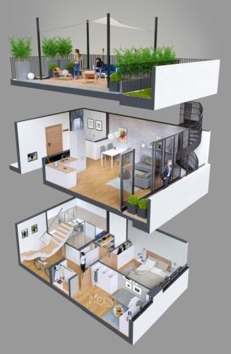 Apartamenty Natura - budynek C - wizualizacja 1