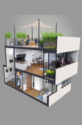 Apartamenty Natura - budynek C - wizualizacja 2