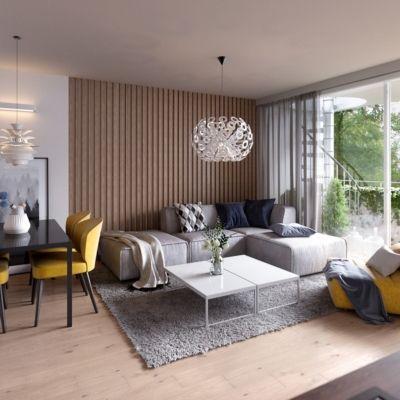 Apartamenty Natura - budynek C - wizualizacja 3 - salon
