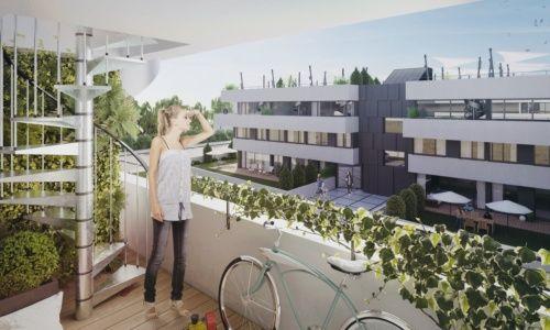 Apartamenty Natura - budynek C - wizualizacja 6 - z budynku D