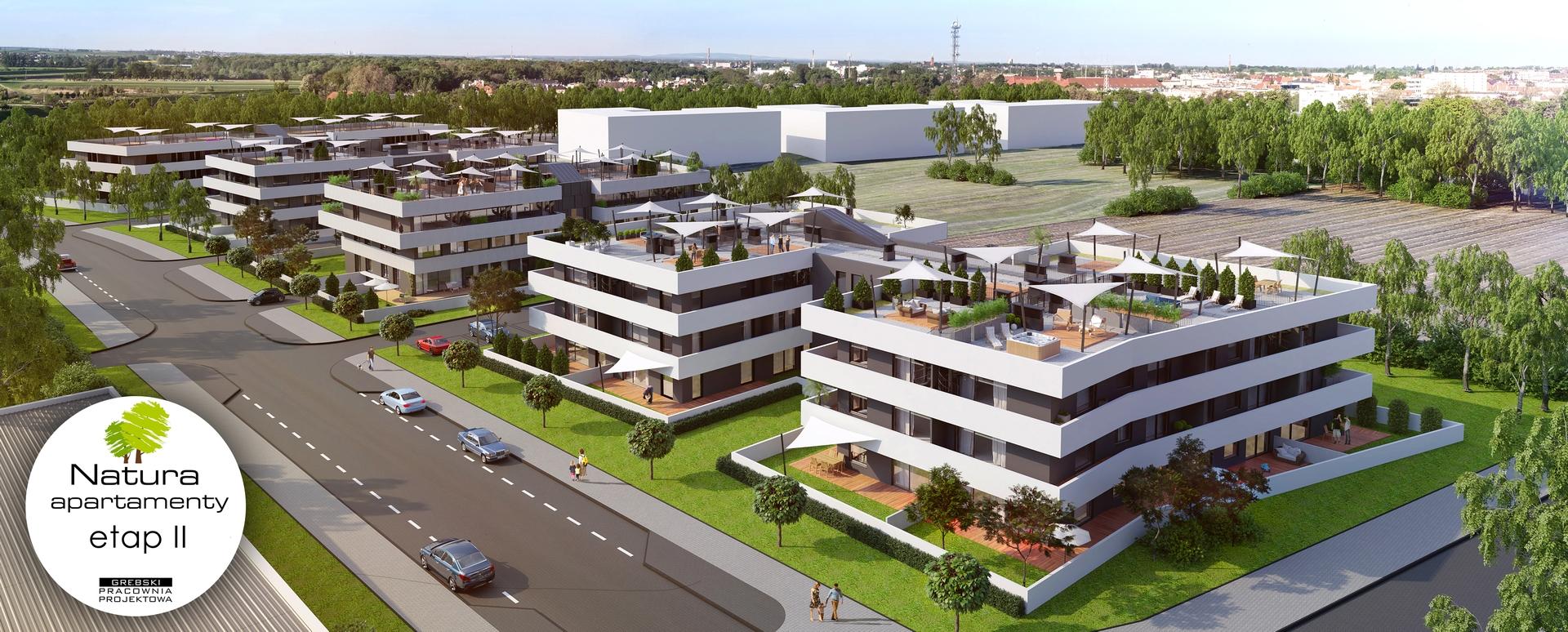 Apartamenty Natura - Wizualizacja Panoramy Osiedla