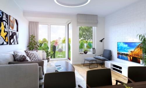 Apartamenty Natura - wizualizacja wnętrz 2