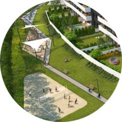 Apartamenty Natura - wizualizacje parku